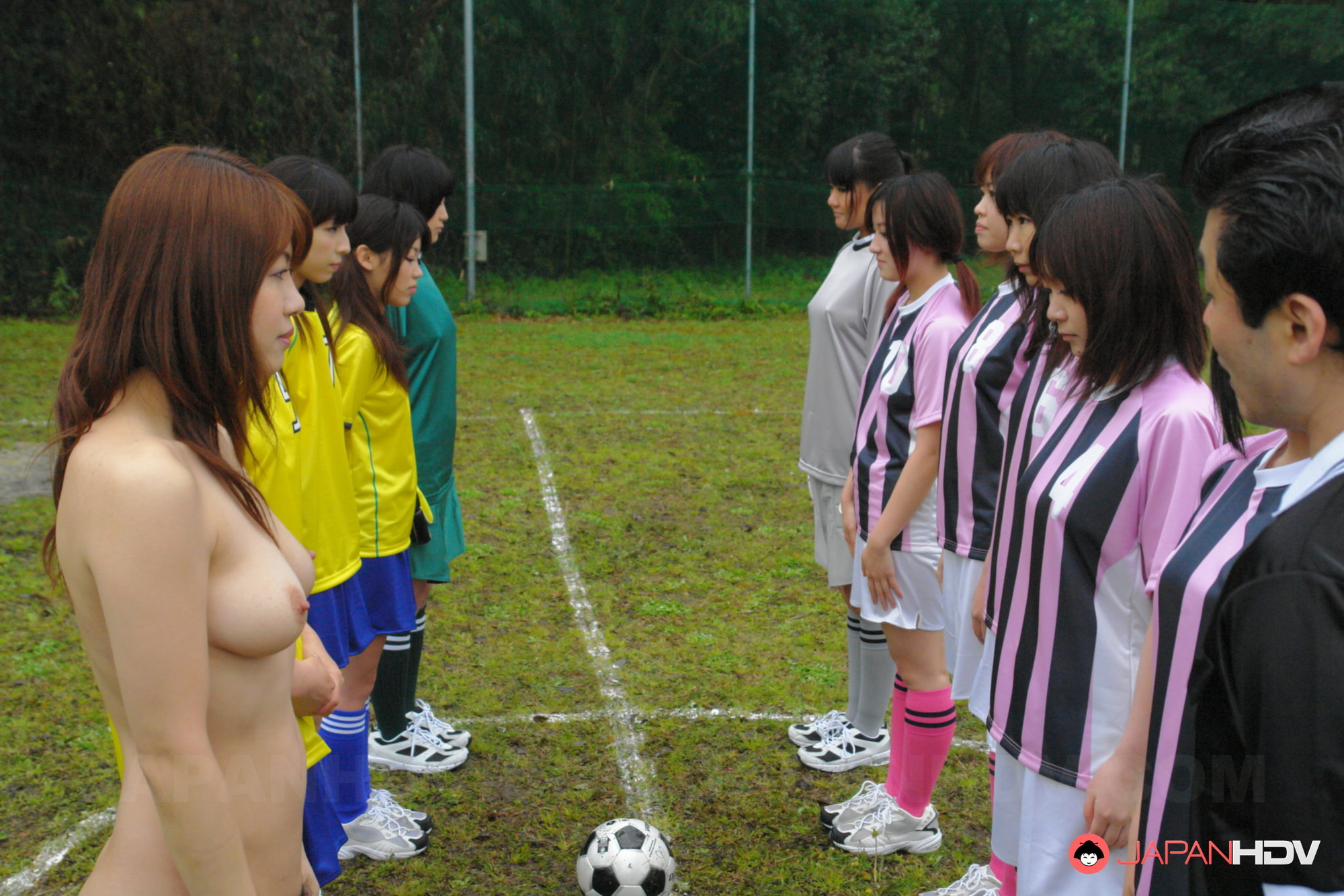 Sexy asian girls playing soccer