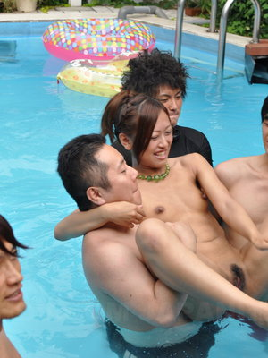 Crazy japanese pool party with lots of naughty girls 2