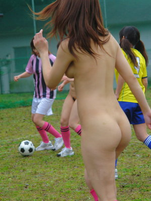 Sexy asian girls playing soccer essence