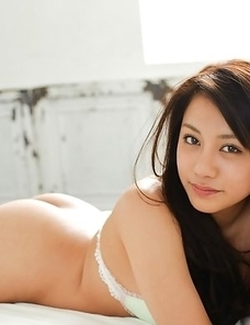 Mei Matsumoto loves covering big tits and body in white